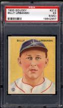 1933 Goudey #212 Billy Urbanski PSA 5 MC RC Rookie Boston Braves