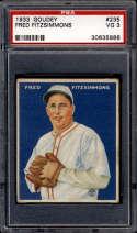 1933 Goudey #235 Freddie Fitzsimmons PSA 3 RC Rookie New York Giants