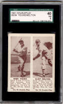 1941 Double Play #93-94 Babe Young/Cliff Melton SGC 40 3 New York Giants