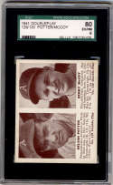 1941 Double Play #129-130 Nelson Potter/Benny McCoy SGC 80 6 RC Rookie Philadelphia Athletics