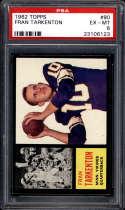 1962 Topps #90 Fran Tarkenton PSA 6 RC Rookie SP Minnesota Vikings