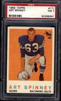 1959 Topps #171 Art Spinney PSA 7
