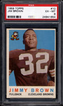 1959 Topps #10 Jim Brown PSA 6