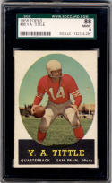 1958 Topps #86 Y.A. Tittle SGC 88 8