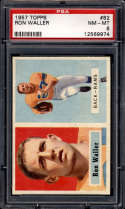 1957 Topps #82 Ron Waller PSA 8 Los Angeles Rams