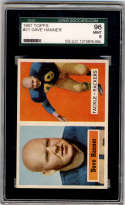 1957 Topps #21 Dave Hanner SGC 96 9 Green Bay Packers