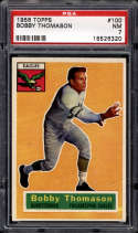 1956 Topps #100 Bobby Thomason PSA 7 Philadelphia Eagles