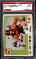 1955 Topps All American #98 Beattie Feathers PSA 7 SP Tennessee
