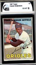 1967 Topps #100 Frank Robinson DP GAI graded 6 Baltimore Orioles