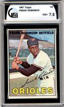1967 Topps #100 Frank Robinson DP GAI graded 7.5 Baltimore Orioles