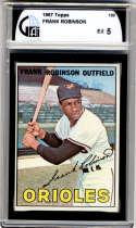 1967 Topps #100 Frank Robinson DP GAI graded 5 Baltimore Orioles