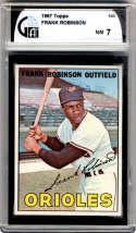 1967 Topps #100 Frank Robinson DP GAI graded 7 Baltimore Orioles