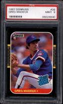 1987 Donruss #36 Greg Maddux PSA 9 RC Rookie Chicago Cubs
