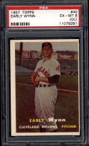1957 Topps #40 Early Wynn PSA 6 OC Cleveland Indians