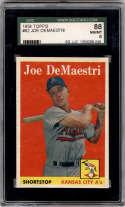 1958 Topps #62 Joe DeMaestri SGC 88 8 Kansas City Athletics