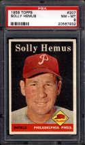 1958 Topps #207 Solly Hemus PSA 8 Philadelphia Phillies