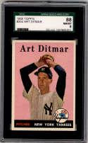 1958 Topps #354 Art Ditmar SGC 88 8 New York Yankees