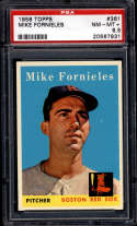 1958 Topps #361 Mike Fornieles PSA 8.5 Boston Red Sox