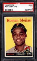 1958 Topps #452 Roman Mejias UER PSA 5 Pittsburgh Pirates