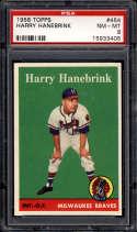 1958 Topps #454 Harry Hanebrink PSA 8 RC Rookie Milwaukee Braves