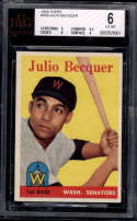 1958 Topps #458 Julio Becquer BVG 6 RC Rookie Washington Senators