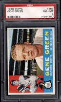 1960 Topps #269 Gene Green PSA 8 Baltimore Orioles