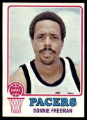 1973-74 Topps #254 Donnie Freeman EX Excellent Indiana Pacers