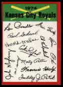 1974 Topps Red Team Checklists #NNO Kansas City Royals EX/NM Kansas City Royals