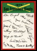 1974 Topps Red Team Checklists #NNO San Francisco Giants NM Near Mint San Francisco Giants