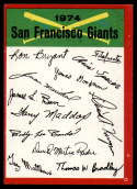 1974 Topps Red Team Checklists #NNO San Francisco Giants EX/NM San Francisco Giants