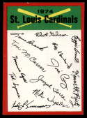 1974 Topps Red Team Checklists #NNO St. Louis Cardinals EX/NM St. Louis Cardinals
