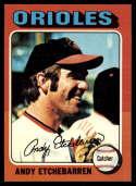 1975 Topps Mini #583 Andy Etchebarren NM Near Mint Baltimore Orioles