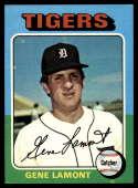 1975 Topps Mini #593 Gene Lamont EX/NM Detroit Tigers