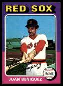1975 Topps Mini #601 Juan Beniquez NM Near Mint Boston Red Sox