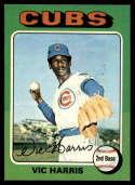 1975 Topps Mini #658 Vic Harris NM Near Mint Chicago Cubs