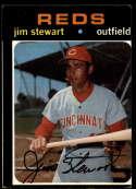1971 Topps #644 Jimmy Stewart miscut SP Cincinnati Reds