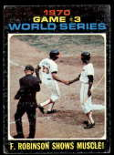 1971 Topps #329 Game #3 World Series F. Robinson Shows His Muscle! VG Very Good Cincinnati Reds
