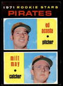 1971 Topps #343 Ed Acosta/Milt May EX/NM RC Rookie Pittsburgh Pirates