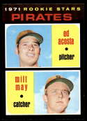 1971 Topps #343 Ed Acosta/Milt May NM-MT RC Rookie Pittsburgh Pirates