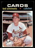 1971 Topps #117 Ted Simmons VG Very Good RC Rookie St. Louis Cardinals