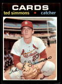 1971 Topps #117 Ted Simmons EX/NM RC Rookie St. Louis Cardinals