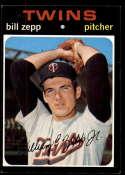 1971 Topps #271 Bill Zepp EX/NM Minnesota Twins