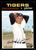 1971 Topps #316 Fred Scherman EX/NM RC Rookie Detroit Tigers