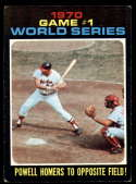 1971 Topps #327 Game #1 World Series Powell Homers To Opposite Field! EX Excellent Baltimore Orioles