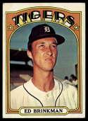1972 Topps #535 Ed Brinkman EX Excellent Detroit Tigers