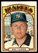 1972 Topps #589 Hal Lanier VG/EX Very Good/Excellent New York Yankees