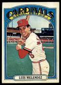 1972 Topps #606 Luis Melendez EX Excellent St. Louis Cardinals