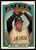 1972 Topps #608 Mike Corkins EX Excellent San Diego Padres