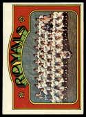 1972 Topps #617 Royals Team EX Excellent Kansas City Royals