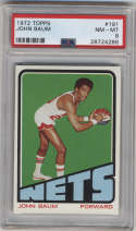 1972-73 Topps #191 John Baum PSA 8 New York Nets